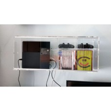 Mobiletto vetrinetta struttura da parete in plexiglas porta PS4