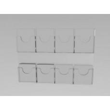 Espositore da parete a 8 tasche(4 o. x 2 v.)