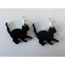 Coppia orecchini in plexiglas a forma di gattino vari colori