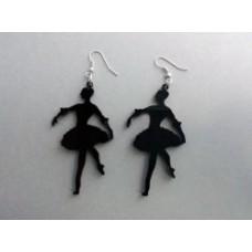 Coppia orecchini in plexiglas a forma di ballerina vari colori