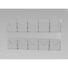 Espositore da parete a 10 tasche(5 o. x 2 v.)