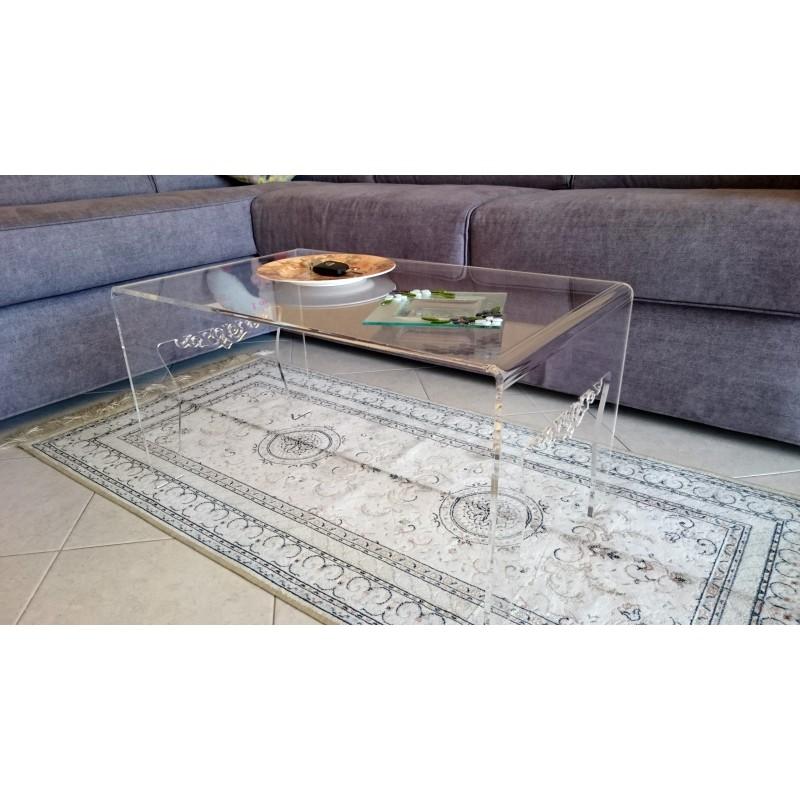 Tavolini Da Salotto Plexiglass.Tavolino Soggiorno Salotto Misura Cm H36xl68xp40 Spessore 8mm
