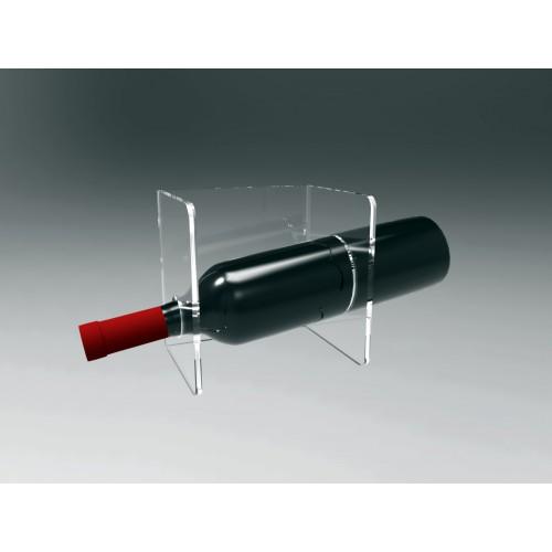 Espositore in plexiglass per vini da parete 1 bottiglia - Porta vini da parete ...