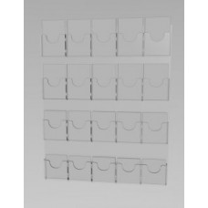 Espositore da parete a 20 tasche(5 o. x 4 v.)
