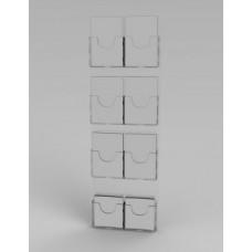 Espositore da parete a 8 tasche(2 o. x 4 v.)