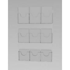 Espositore da parete a 9 tasche(3 o. x 3 v.)