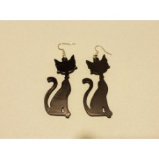 Coppia orecchini in plexiglas a forma di gatto(2) vari colori